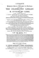 Auction catalogue  books of Guglielmo Libri  18 to 26 July 1861