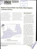 Radium In Ground Water From Public Water Supplies In Northern Illinois