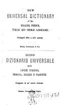 Neues Universal-Wörterbuch der deutschen, englischen, französischen und italienischen Sprache