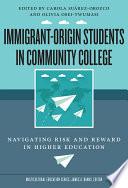 Immigrant Origin Students In Community College