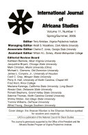 The International Journal of Africana Studies Book PDF