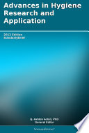 Advances In Hygiene Research And Application 2012 Edition
