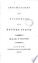 Intimations and evidences of a future state