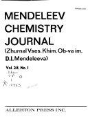 Mendeleev Chemistry Journal Book