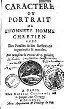 Caractère et portrait de l'honnête homme chrétien