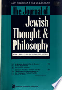 The Journal of Jewish Thought & Philosophy