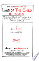 Encyclopaedia of Laws of the Child in India