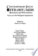 Contemporary Issues in STD-HIV/AIDS Research and Prevention