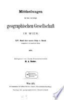 Mitteilungen der Geographischen Gesellschaft Wien