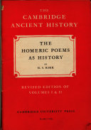 The Homeric Poems as History