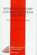 Interdisciplinary Courses and Team Teaching Book