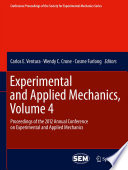 Experimental And Applied Mechanics Volume 4 Book PDF