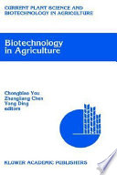 Biotechnology In Agriculture Book PDF