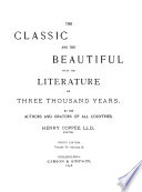 The Classic and the Beautiful from the Literature of Three Thousand Years