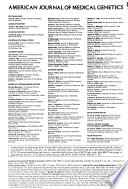 American Journal of Medical Genetics