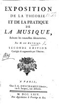 Exposition de la théorie et de la pratique de la musique, suivant les nouvelles découvertes