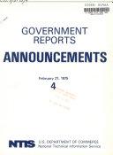 Government Reports Announcements Book PDF