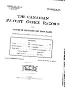 Canadian Patent Office Record