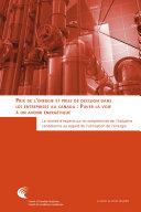 Pdf Prix de l'énergie et prise de décision dans les entreprises au Canada : Paver la voir à un avenir énergétique Telecharger