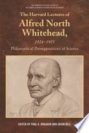 Harvard Lectures of Alfred North Whitehead Book PDF