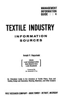 Textile Industry  Information Sources Book