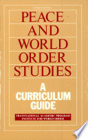 Peace And World Order Studies