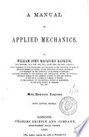 A Manual of Applied Mechanics Book