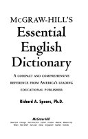 McGraw Hill s Essential English Dictionary