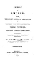 History of Greece ... Illustrated with maps and portraits ... Second edition
