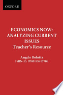 Economics Now : Analyzing Current Issues. Teacher's Resource