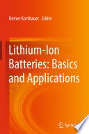 Lithium Ion Batteries Basics And Applications Book PDF