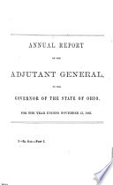 Message and Annual Reports for ..., Made to the ... General Assembly of Ohio ..