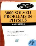 3000 Solved Problems In Physics   Schaum Series   Sie