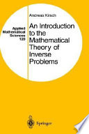 An Introduction To The Mathematical Theory Of Inverse Problems Book PDF