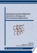 Emerging Functional Materials  Advances in Energy and Environmental Applications