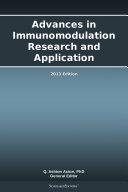 Advances in Immunomodulation Research and Application: 2013 Edition Pdf/ePub eBook