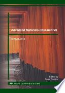 Advanced Materials Research VIII