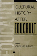 Cultural History After Foucault