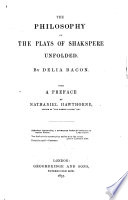 The Philosophy of the Plays of Shakspere Unfolded     With a Preface by Nathaniel Hawthorne Book