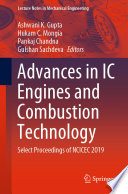 Advances in IC Engines and Combustion Technology Book