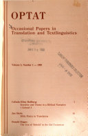 Occasional Papers in Translation and Textlinguistics Book