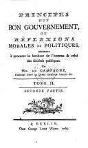 Principes d'un bon gouvernement
