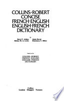 Collins-Robert concise French-English, English-French dictionary