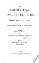 The Natural   Moral History of the Indies  The moral history  books V VII