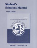 Student s Solutions Manual for a Problem Solving Approach to Mathematics