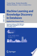 Machine Learning and Knowledge Discovery in Databases  Applied Data Science Track Book
