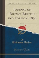 Journal of Botany  British and Foreign  1898
