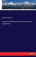 Neudrucke von Schriften und Karten über Meteorologie und Erdmagnetismus