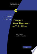 Complex Wave Dynamics On Thin Films Book PDF