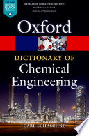 A Dictionary of Chemical Engineering Book